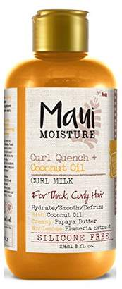Maui Moisture Coconut Oil Curl Milk 8 Ounce (236ml) (6 Pack)
