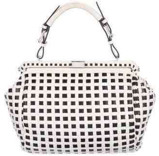 Marni Raffia & Leather Frame Bag
