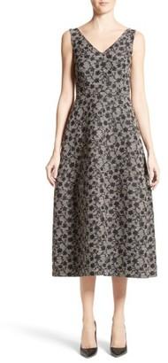 Women's Co Floral Jacquard Midi Dress $1,350 thestylecure.com