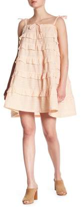 Cotton Emporium Layered Ruffle Tie Sleeve Dress