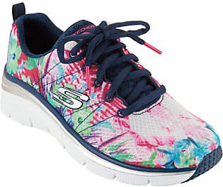 Skechers Tropical Print Sneaker Wedges - Spring Essential $58.68 thestylecure.com