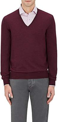 Barneys New York MEN'S VIRGIN WOOL V-NECK SWEATER