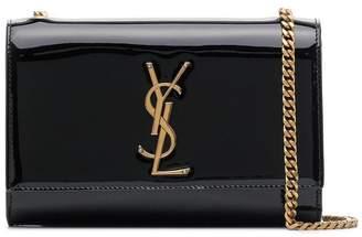 Saint Laurent black kate patent leather shoulder bag