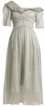 Preen by Thornton Bregazzi Jacinta One Shoulder Silk Organza Dress - Womens - Grey