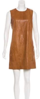 Vince Leather Sleeveless Dress