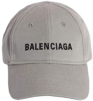 Balenciaga EMBROIDERED LOGO COTTON BASEBALL HAT