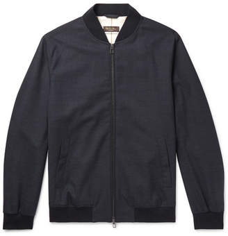 Loro Piana Storm System Stretch-Wool Bomber Jacket