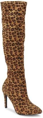 Olivia Miller Gambell Women's Leopard Print High Heel Knee High Boots