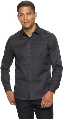 Apt. 9 Men's Textured No-Iron Woven Button-Down Shirt