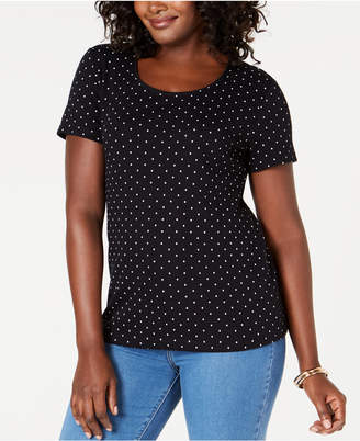Karen Scott Scoop-Neck T-Shirt