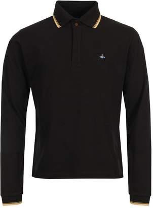 Vivienne Westwood Long Sleeve Polo - Black