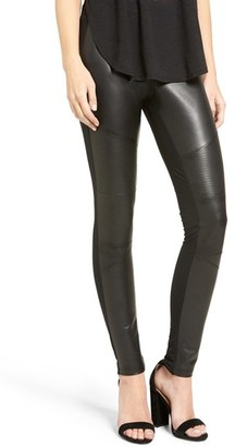 Women's Bp. Faux Leather Front Moto Leggings $39 thestylecure.com