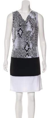 MICHAEL Michael Kors Sleeveless Printed Shift Dress w/ Tags