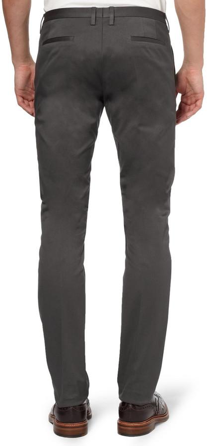 Paul Smith Slim-Fit Cotton-Blend Trousers