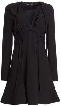 Proenza Schouler Knot Detail Crepe Fit-&-Flare Dress