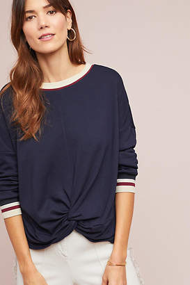 .Layered Twisted Sporty Pullover