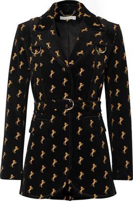 Chloé 刺绣棉质混纺天鹅绒西装式外套