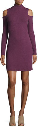 Splendid Cold-Shoulder Mock-Neck Sweaterdress $88 thestylecure.com
