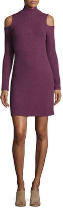 Splendid Cold-Shoulder Mock-Neck Sweaterdress $148 thestylecure.com
