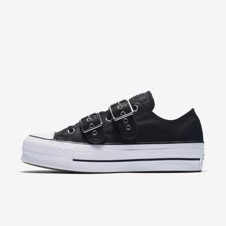 Converse Chuck Taylor All Star Leather Buckle Low Top Womens Shoe