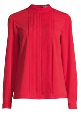 BOSS Stretch Crepe Pleated Top