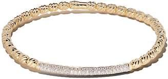 David Yurman 18kt yellow gold Petite Pavé cable flex diamond bangle