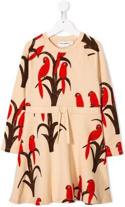 Mini Rodini bird pattern a-line dress