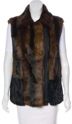 Pologeorgis Fur Leather Vest