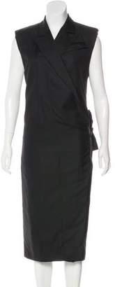 Bottega Veneta Wool-Blend Wrap Dress