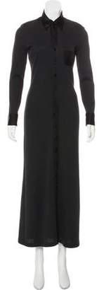 Jean Paul Gaultier Wool Maxi Shirtdress