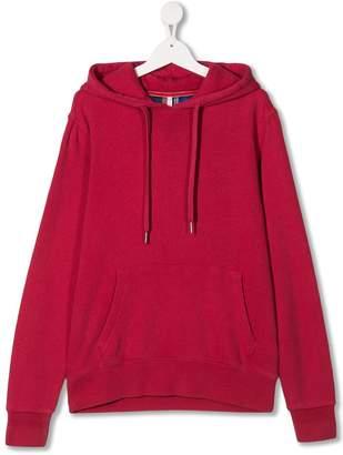 Sun 68 Kids kangaroo pocket drawstring hoodie