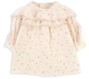 Chloé Girls' Ruffle Detail Floral Print Dress - Baby