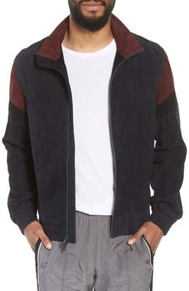 Vince Colorblock Leather Track Jacket