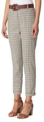 Tahari Arthur S. Levine Petite Plaid Cuffed Pants