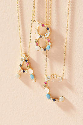 Anthropologie Stone Encrusted Monogram Necklace $58 thestylecure.com