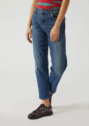 Emporio Armani J90 Relaxed Fit Jeans In Stretch Denim