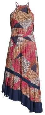 Ramy Brook Calliope Geometric Asymmetric Hem Dress