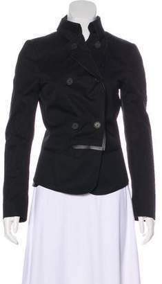 Salvatore Ferragamo Leather-Trimmed Structured Jacket
