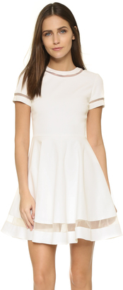 alice + olivia Frances Mini Flared Dress $396 thestylecure.com