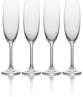 Mikasa Julie Four-Piece Stem Flute Drinking Glass Set