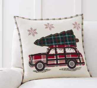 Pottery Barn All The Way Home Embroidered Pillow Cover