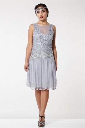 Gatsbylady London Elaina Drop Waist Flapper Dress in Lilac
