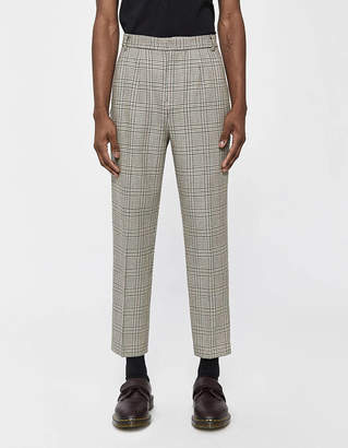 Need Double Pleat Houndstooth Trouser in Brown