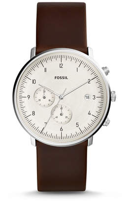 Fossil Chase Timer Chronograph Brown Leather Watch
