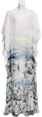 St. John 2016 Batwing Sleeve Printed Dress w/ Tags