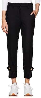 Sacai Women's Wool-Blend Felt Crop Tuxedo Trousers