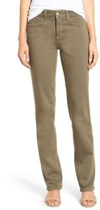 NYDJ Marilyn Stretch Twill Straight Leg Slim Fit Pants (Petite)