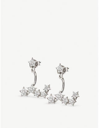 Folli Follie Star sterling silver and cubic zirconia cuff earrings