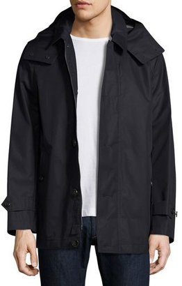 Burberry Darnsbury Hooded Field Jacket, Navy $1,050 thestylecure.com