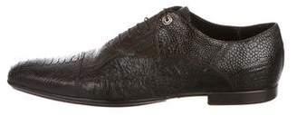 Cesare Paciotti Ostrich Leg Oxfords